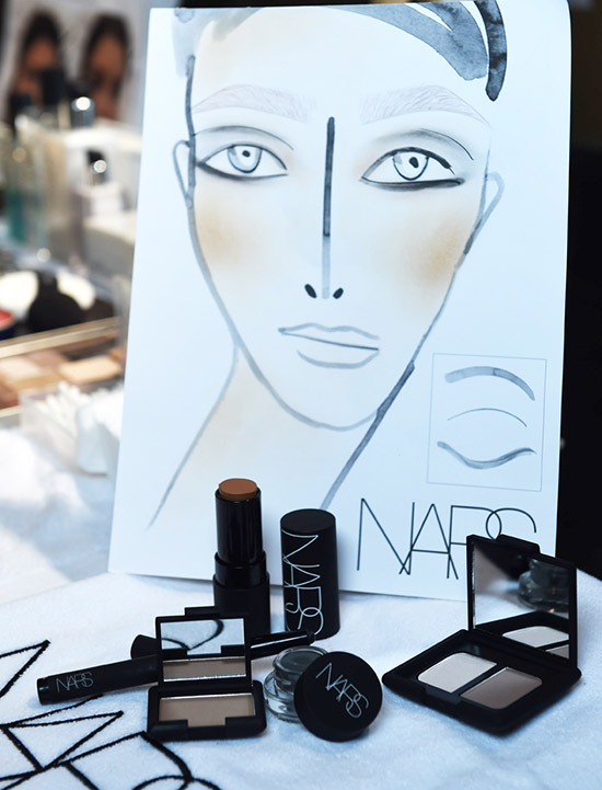 Alexander Wang A/W 2015 backstage makeup by NARS