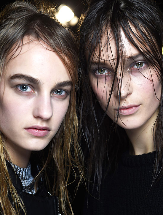Alexander Wang A/W 2015 runway beauty