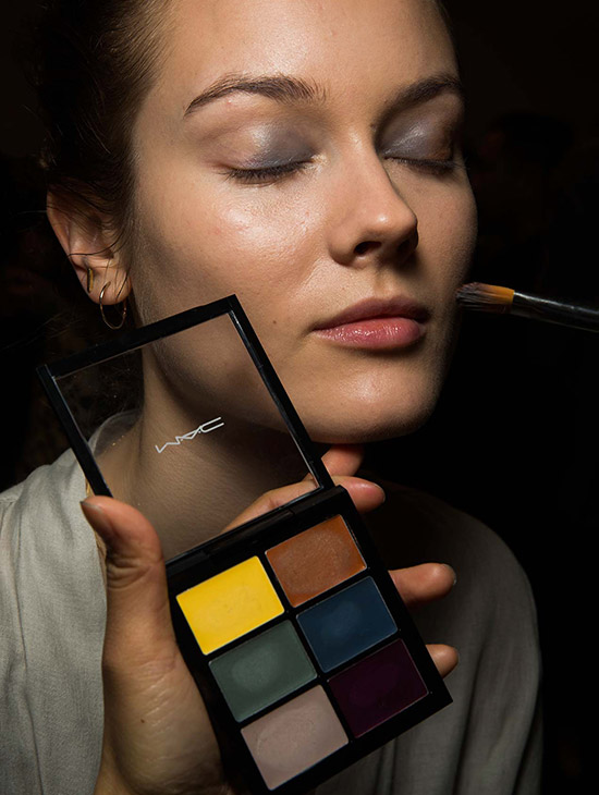 Makeup by MAC backstage at Altuzarra A/W 2015