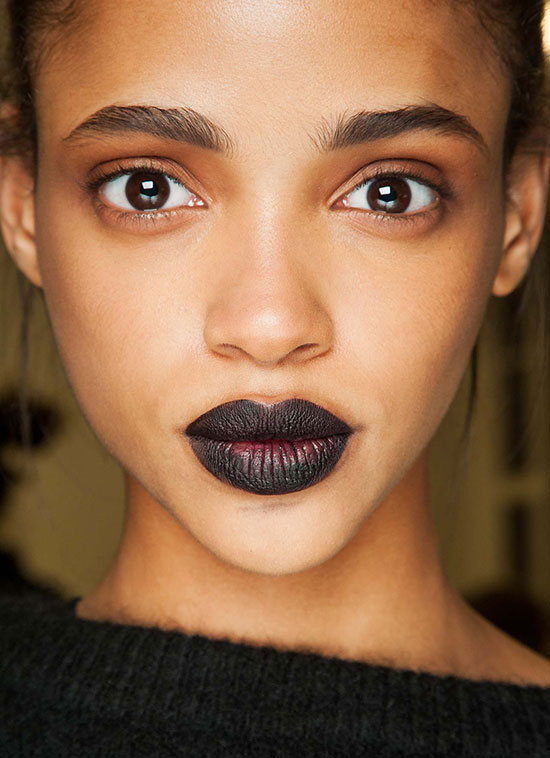 Black lipstick at Giles A/W 2015