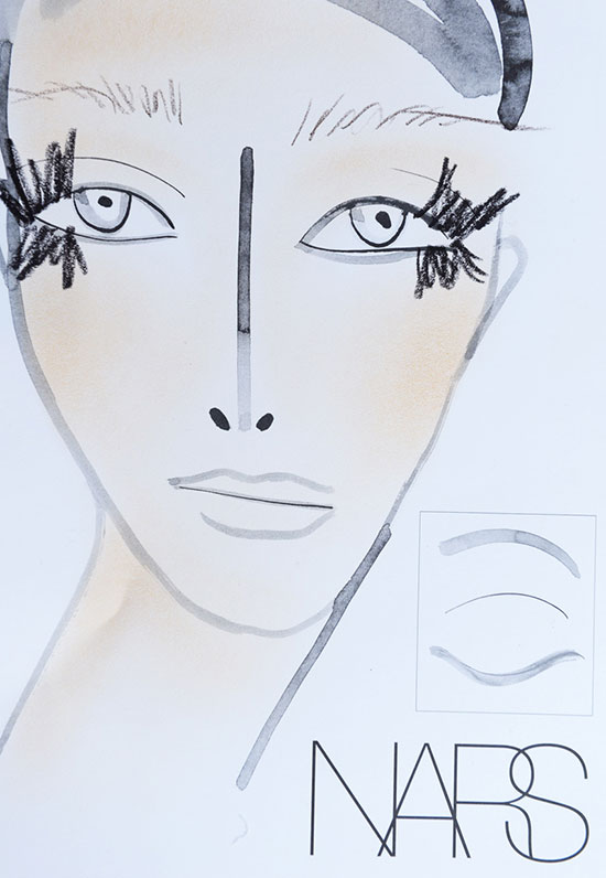 Creatures Of The Wind A/W 2015 makeup facechart by NARS