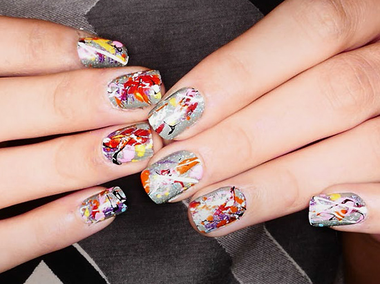 Desigual A/W 2015 runway nail art by MAC Cosmetics