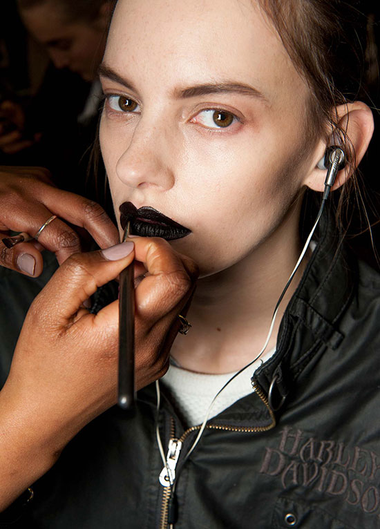Giles A/W 2015 backstage makeup by MAC