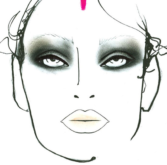 Libertine A/W 2015 makeup facechart by MAC