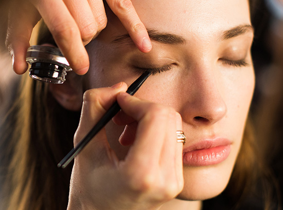 Backstage makeup at Marissa Webb A/W 2015