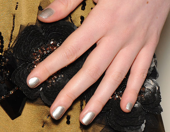 Metallic nails by butter LONDON at Creatures Of The Wind A/W 2015