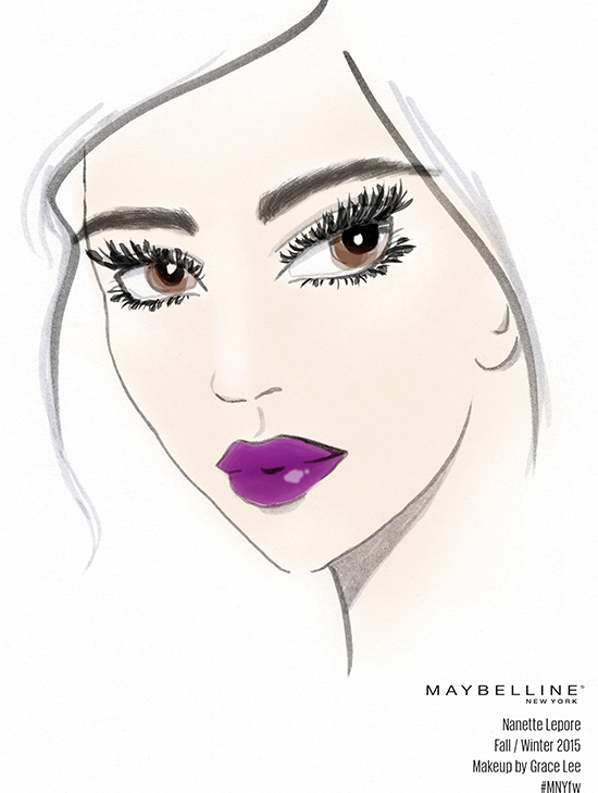 Nanette Lepore A/W 2015 makeup facechart by Maylline