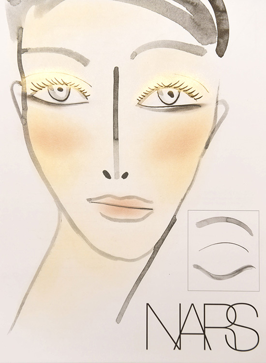 Rachel Comey A/W 2015 makeup facechart by NARS