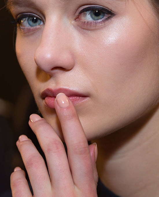 Sporty makeup look at Rag & Bone A/W 2015