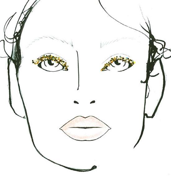 Tadashi Shoji A/W 2015 makeup facechart by MAC