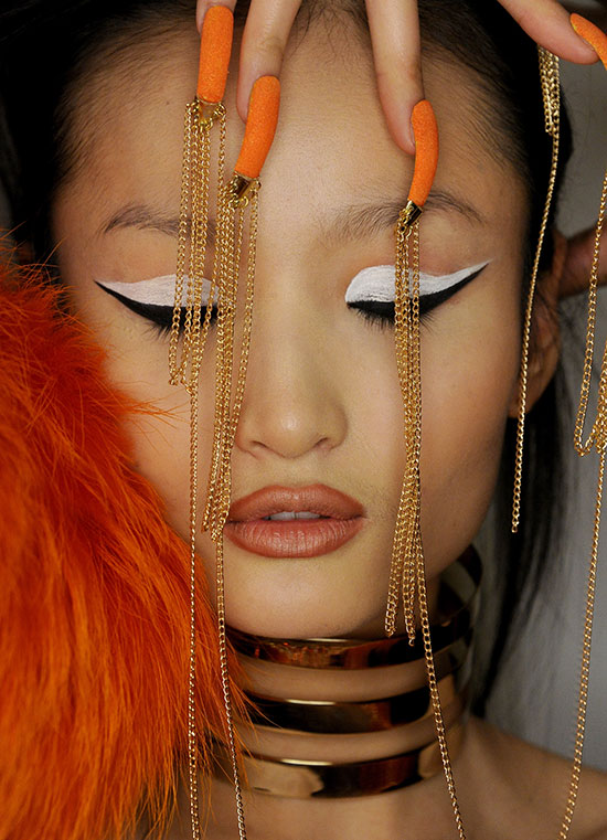 The Blonds A/W 2015 runway makeup and nails