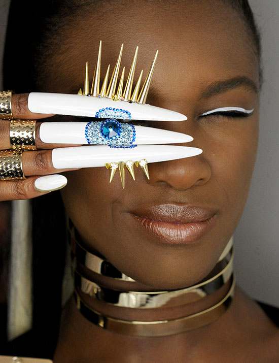 The Blonds A/W 2015 runway nails by CND