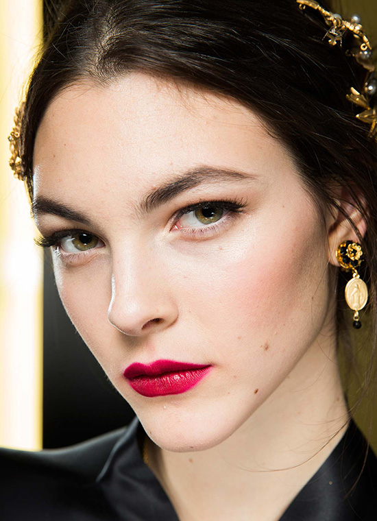 Red lips at Dolce & Gabbana A/W 2015