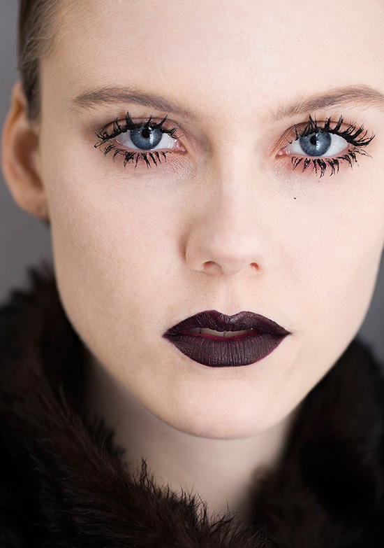 Dark lips at Dior A/W 2016