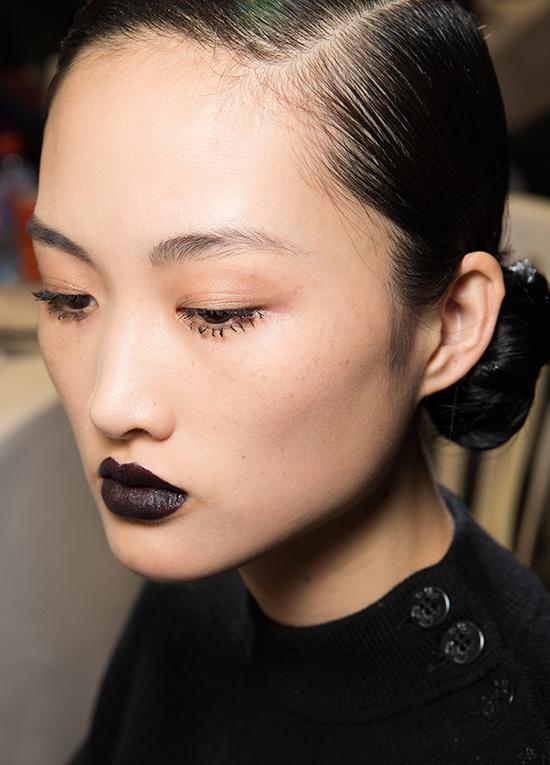 Dior A/W 2016 backstage makeup