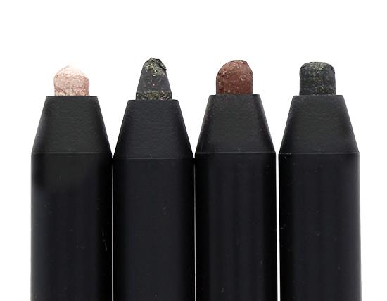 CLIO Gelpresso Waterproof Pencil Gel Liners in #1 Beige Shine, #3 Golden Khaki, #4 Dark Choco and #7 Golden Black