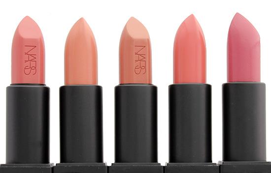 NARS Anita, Raquel, Barbara, Brigitte and Anna Audacious Lipsticks
