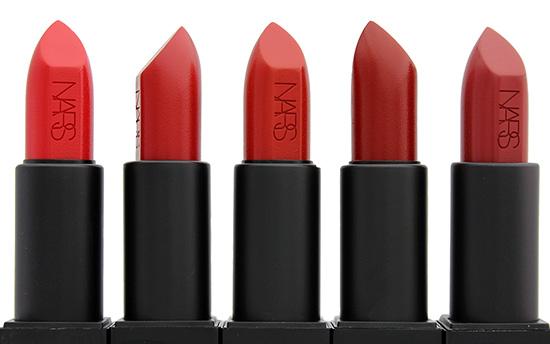 NARS Annabella, Rita, Marlene, Olivia and Leslie Audacious Lipsticks