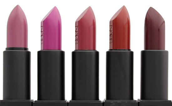 NARS Dominique, Silvia, Vivien, Sandra and Ingrid Audacious Lipsticks