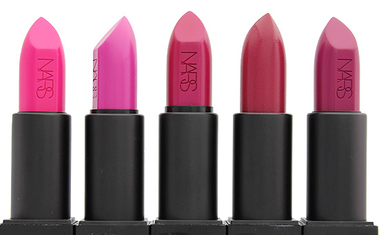 NARS Michiyo, Angela, Janet, Vera and Fanny Audacious Lipsticks
