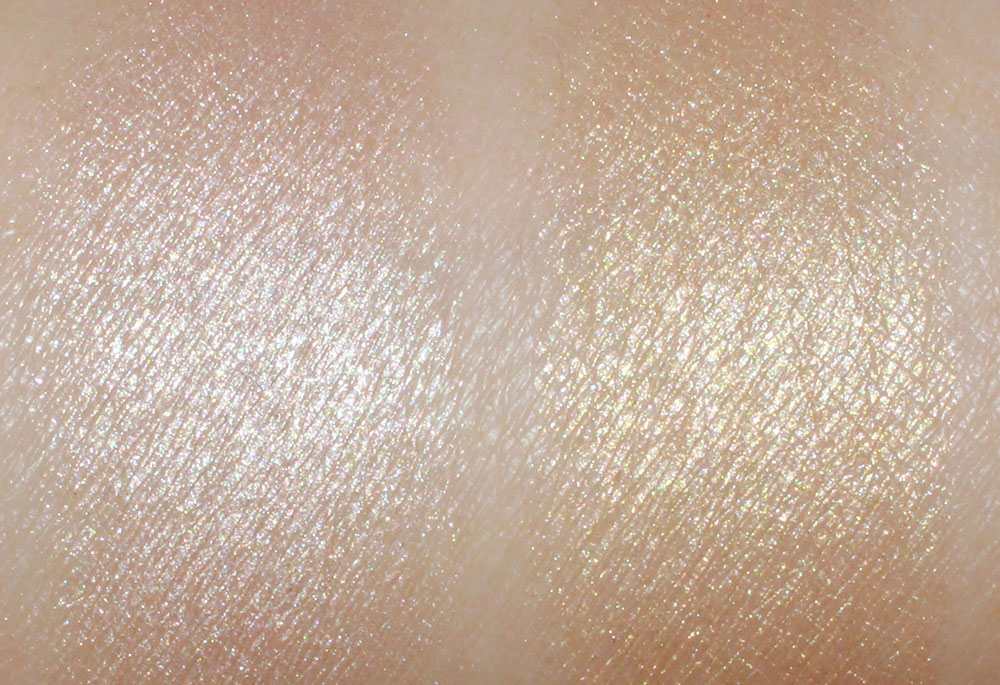 Pat McGrath Skin Fetish 003 Nude and Golden Shiny Stick highlighter + balm duo swatches