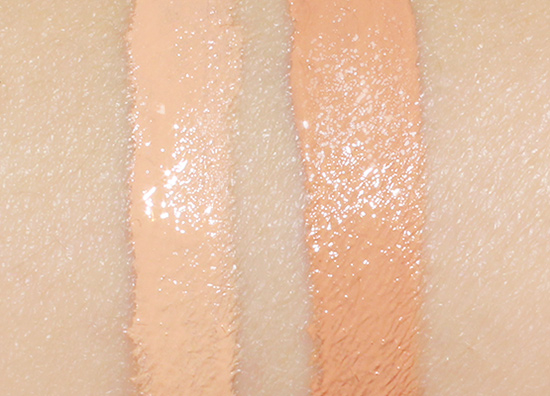 Make Up For Ever Ultra HD Invisible Cover Concealer in R32 vs HD concealer in 350 Apricot Beige