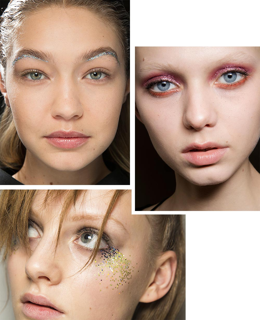 Glitter eye makeup trend Fall 2016