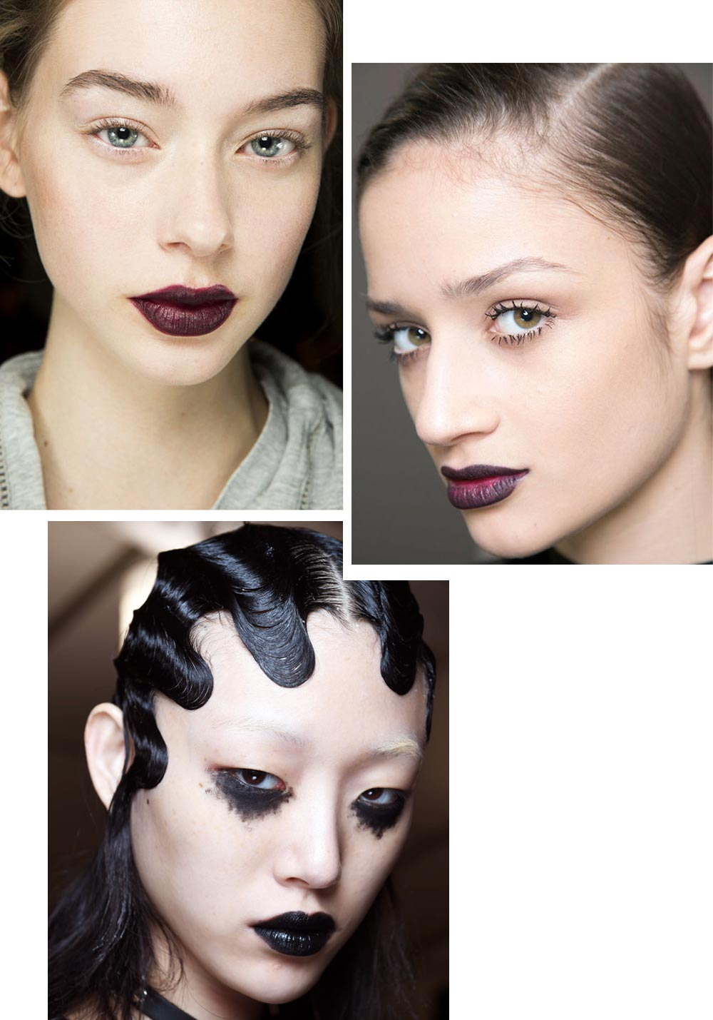Goth lip makeup trend Fall 2016