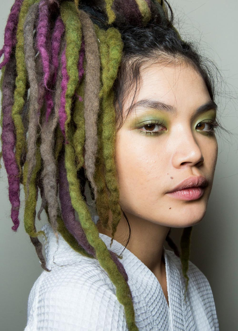 Green eyeshadow at Marc Jacobs Spring 2017