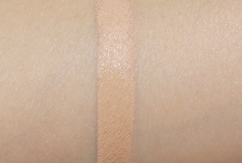 Swatch of Shiseido SpotsCover Foundation in S100
