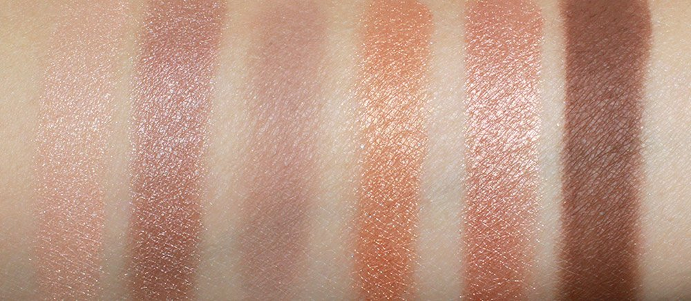 NARS Long Hot Summer Eyeshadow Palette swatches