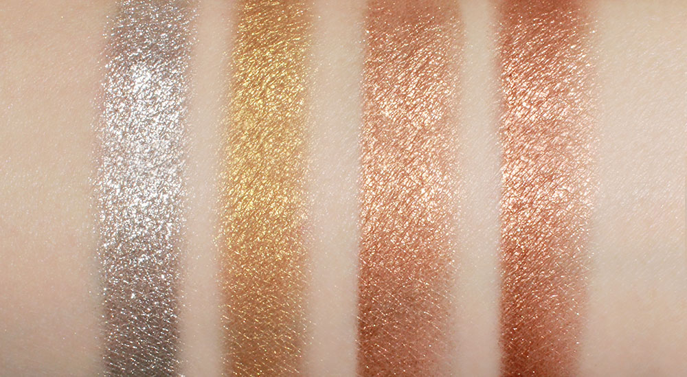 Swatches of Pat McGrath Labs Metalmorphosis 005 Creams