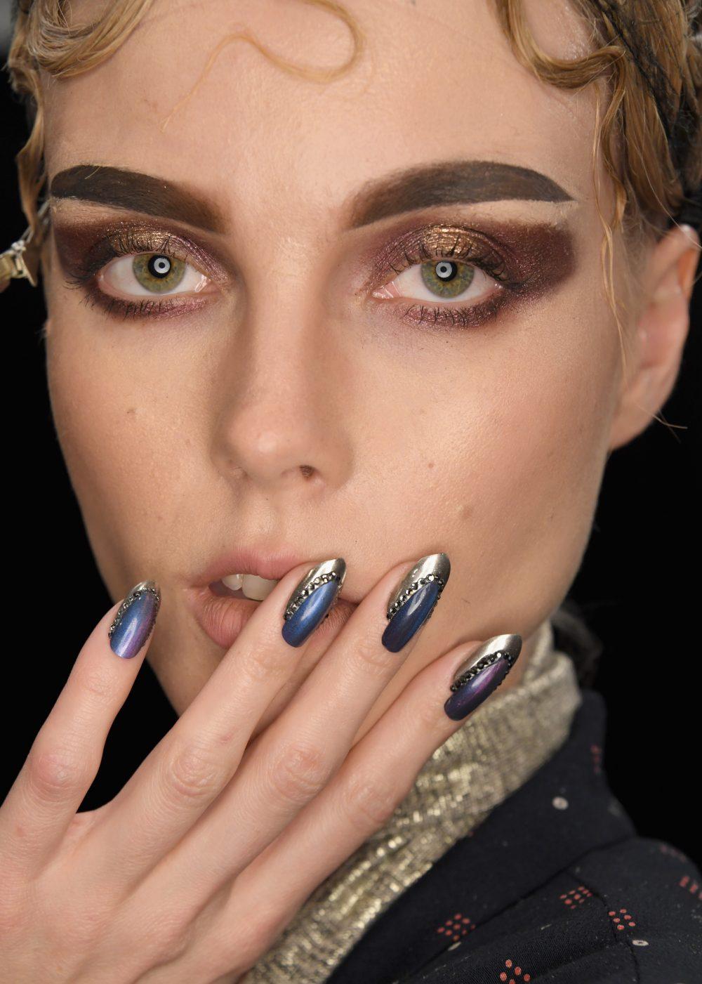 Runway Beauty: Metallics at The Blonds A/W 2017 – Makeup ...