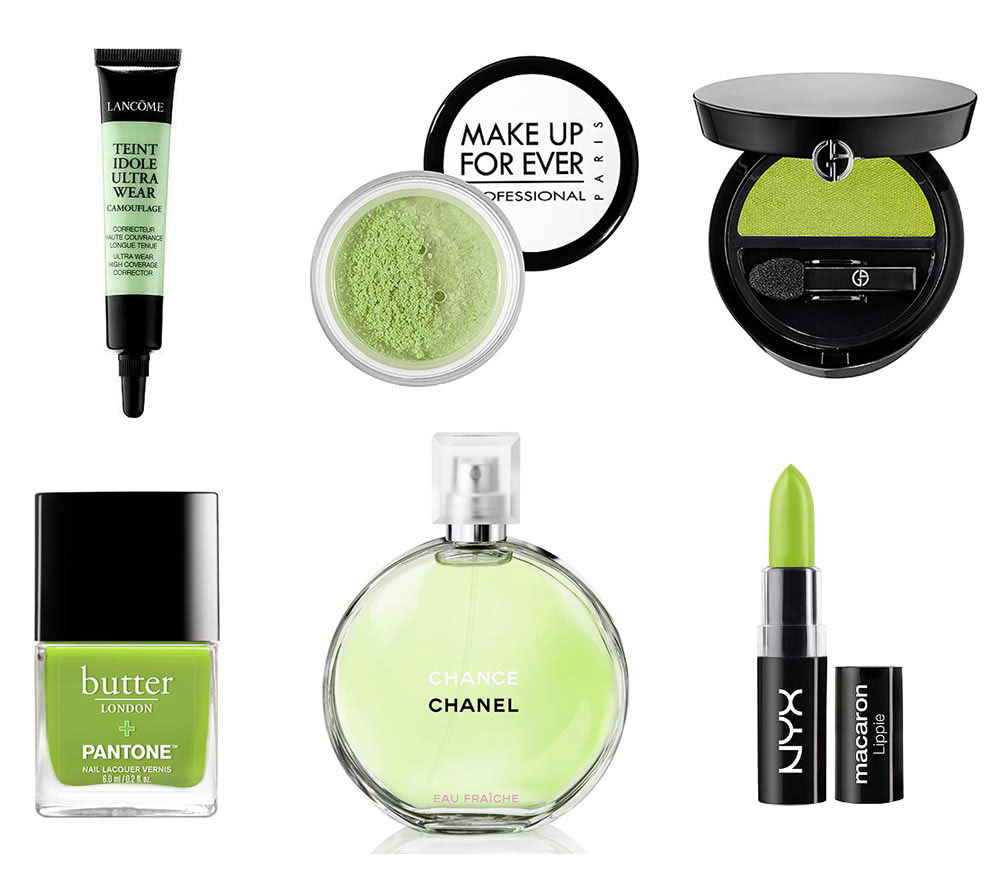Pantone 2017 Color Of The Year Greenery makeup products