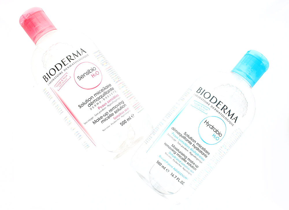 Bioderma Sensibio H2O and Hydrabio H2O Micellar Solution
