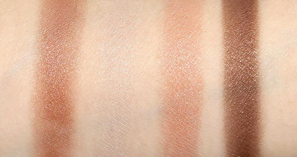 Swatches of Kate Dark Night Glow Eyeshadow Palette in PK-1