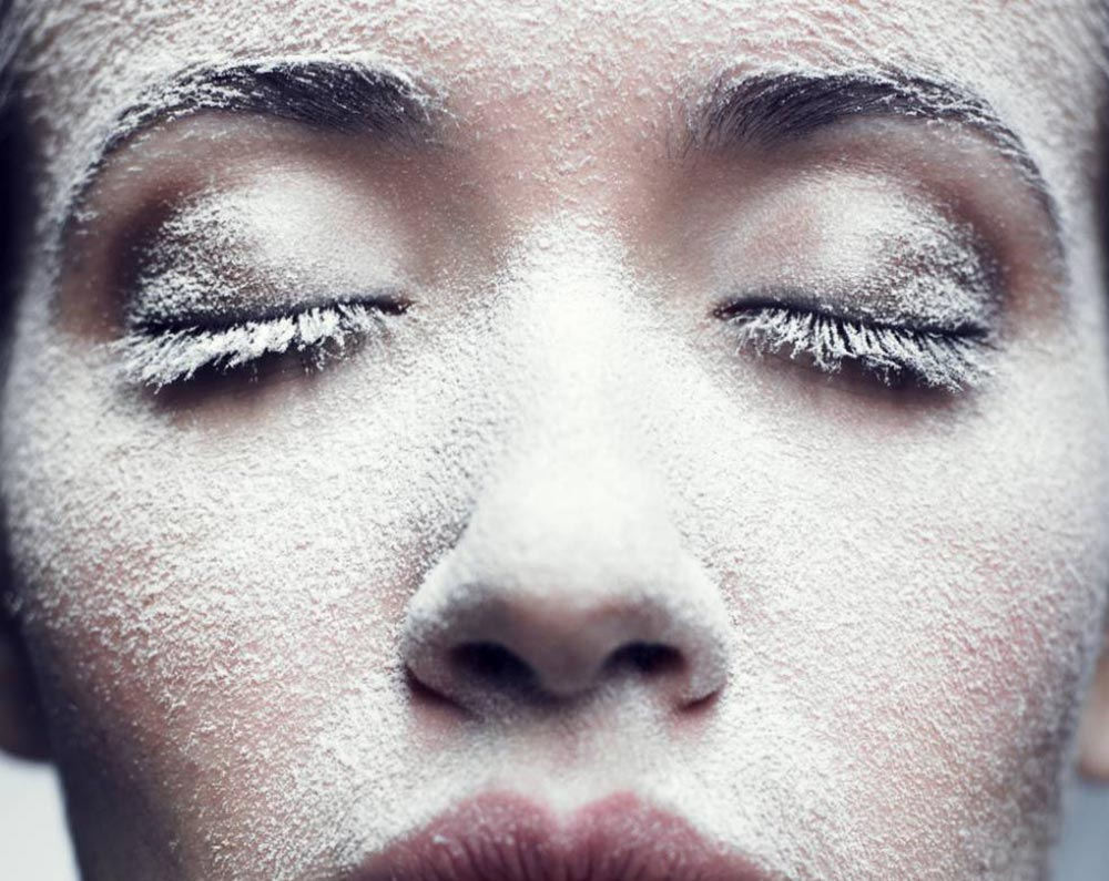 how to set your makeup with dry skin