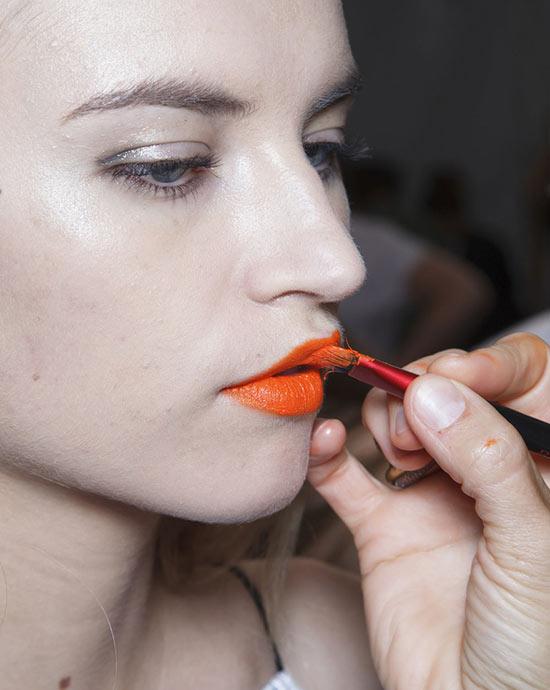 Rag & Bone весна 2014 макияж губ